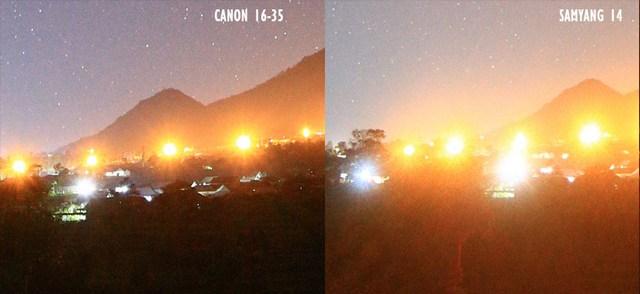 foto milkyway canon16 35vs samyang14 4 - Lensa samyang 14 mm vs canon 16-35 untuk memotret milky way