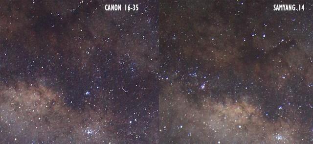 foto milkyway canon16 35vs samyang14 5 - Lensa samyang 14 mm vs canon 16-35 untuk memotret milky way