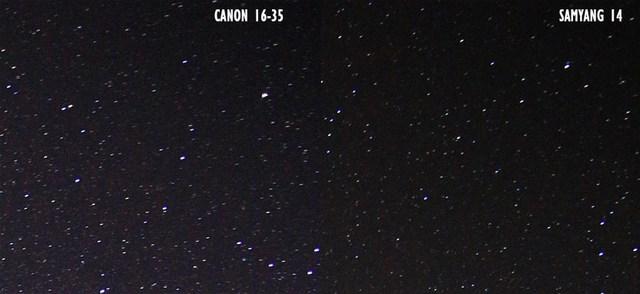 foto milkyway canon16 35vs samyang14 6 - Lensa samyang 14 mm vs canon 16-35 untuk memotret milky way