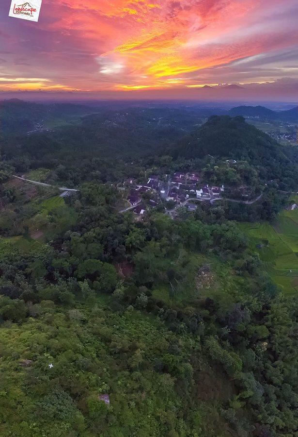gamping sore 5 - Berkas Senja di Gunung Gamping