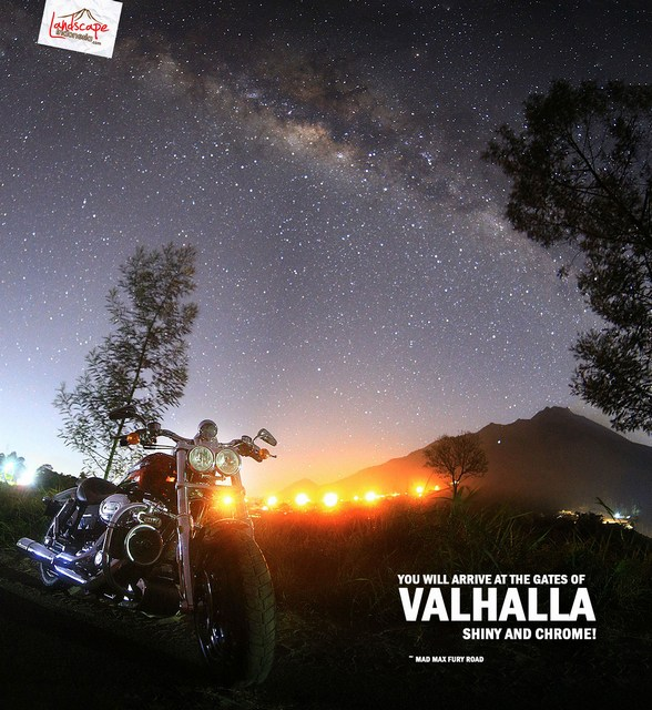 hunting milkyway 2 - Hunting Milky way di kaki Merapi