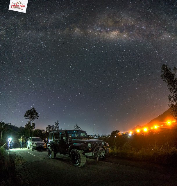 hunting milkyway 3 - Hunting Milky way di kaki Merapi