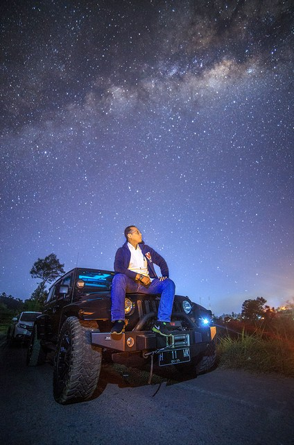 hunting milkyway 4 - Hunting Milky way di kaki Merapi