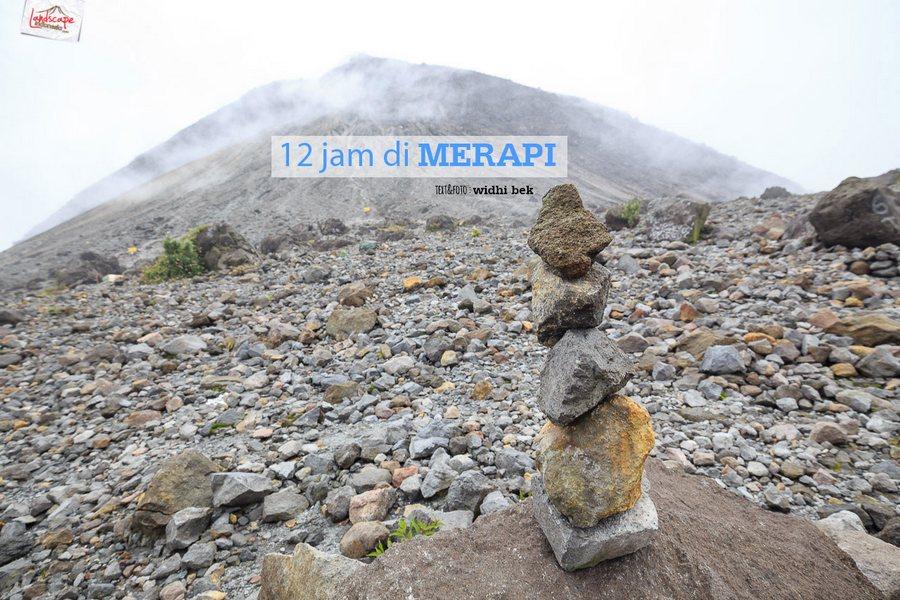 12 jam gunung merapi