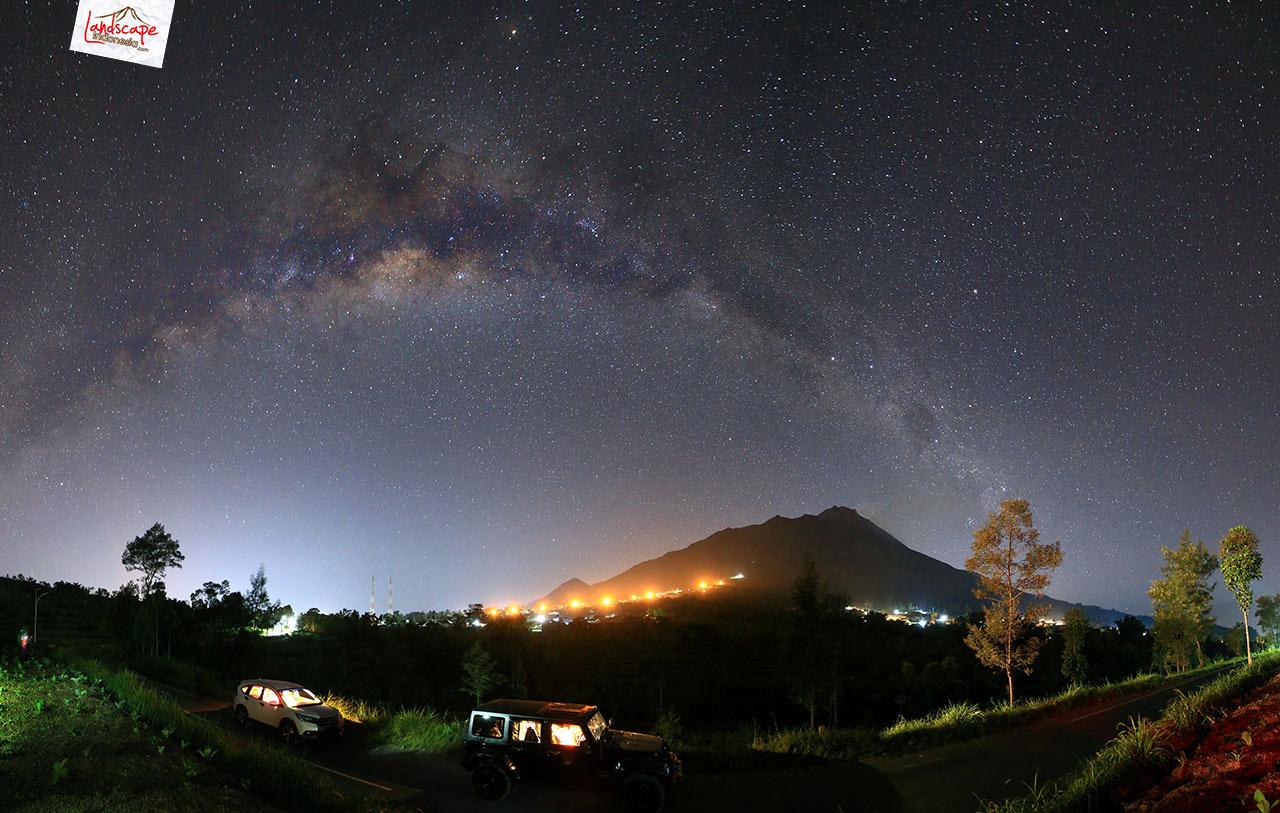 milky way over merapi bek - Hunting Milky way di kaki Merapi