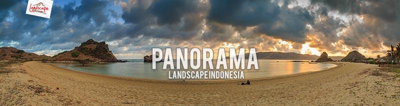 senja di pantai kuta lombok
