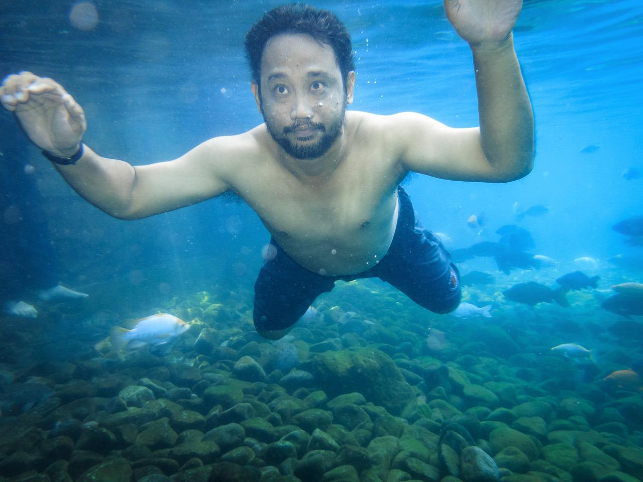 ponggok 2 - Test #2 underwater g15 - umbul Ponggok