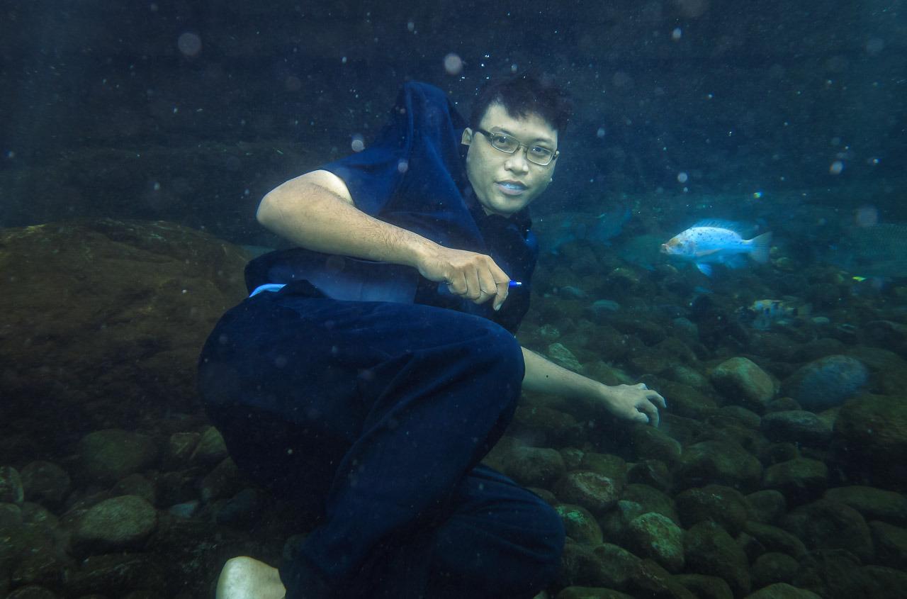 ponggok 3 - Test #2 underwater g15 - umbul Ponggok