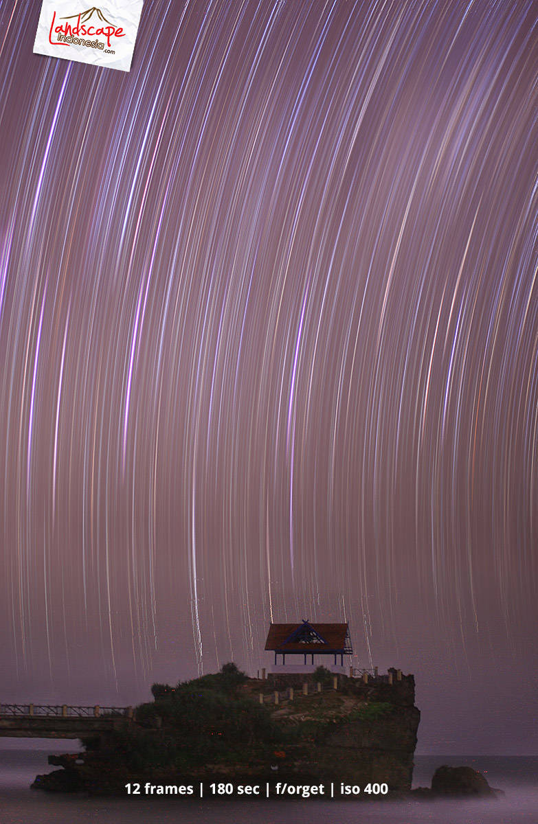 star trail kukup 1 - oleh-oleh dari sisir pantai gunung kidul dengan canon 450D