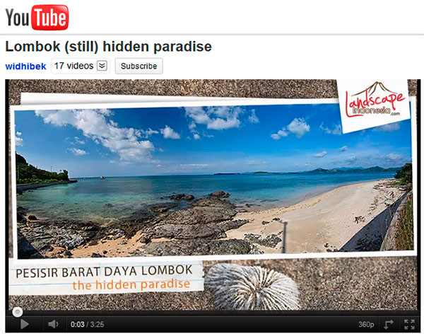 lombok youtube - Lombok (still) hidden paradise in youtube (HD version)