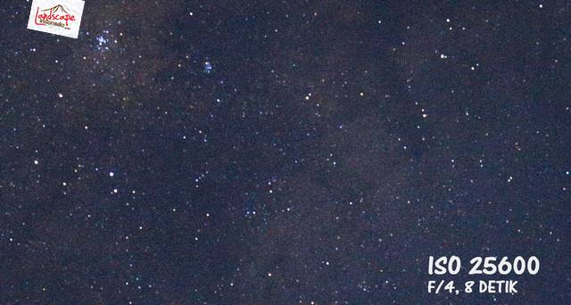 test iso 100 25600 - Test high iso canon 6D untuk memotret milky way