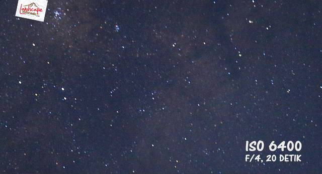 test iso 100 6400 - Test high iso canon 6D untuk memotret milky way