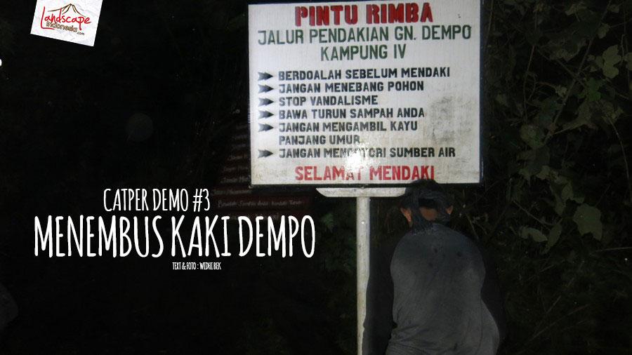 dempo 3 3 - [Catper Dempo #3] - menembus kaki dempo