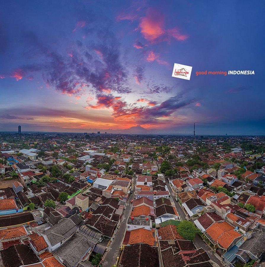 aerial foto pagi