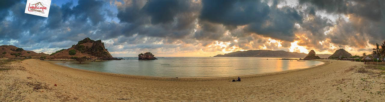 pano kuta senja lombok 1 - [panorama] Senja di  Pantai Kuta Lombok