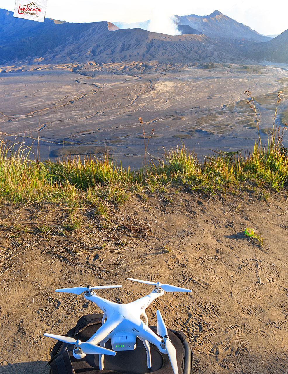 drone bromo - Pembelajaran Drone di Bromo : Low Voltage Warning