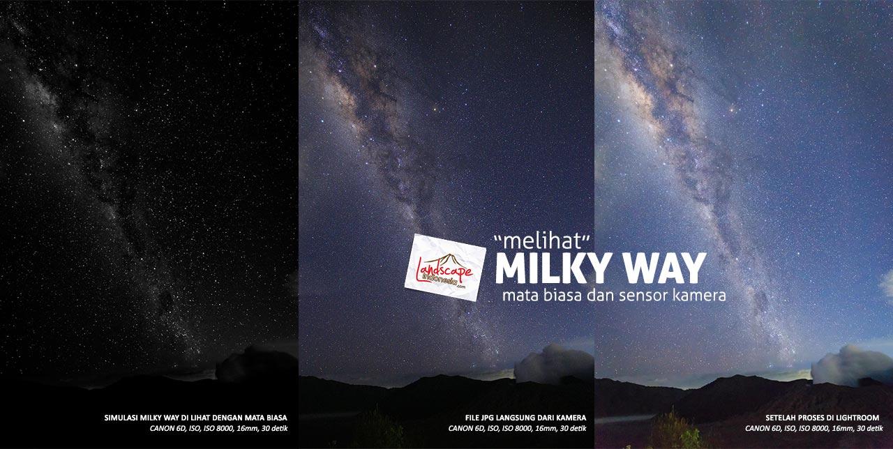 milky way dilihat mata - simulasi