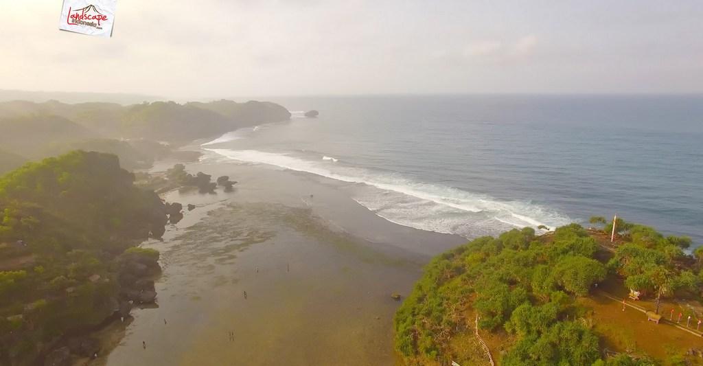 drini dari udara 16 - Pantai Drini dari Udara - Surut dan Pasang