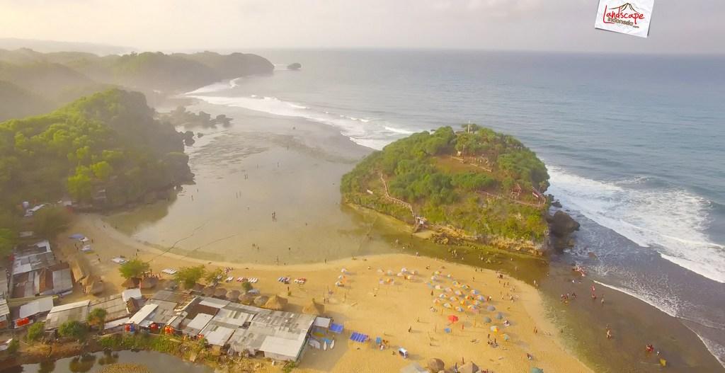 drini dari udara 17 - Pantai Drini dari Udara - Surut dan Pasang
