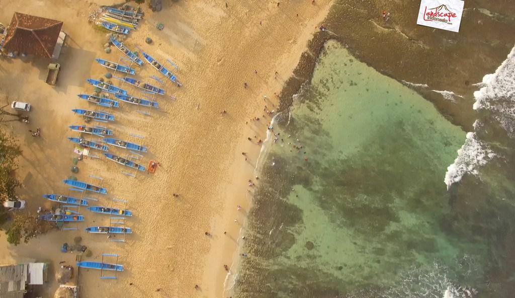 drini dari udara 20 - Pantai Drini dari Udara - Surut dan Pasang