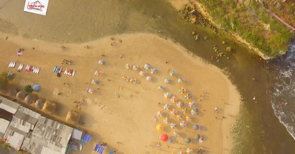 drini dari udara 21 - Pantai Drini dari Udara - Surut dan Pasang
