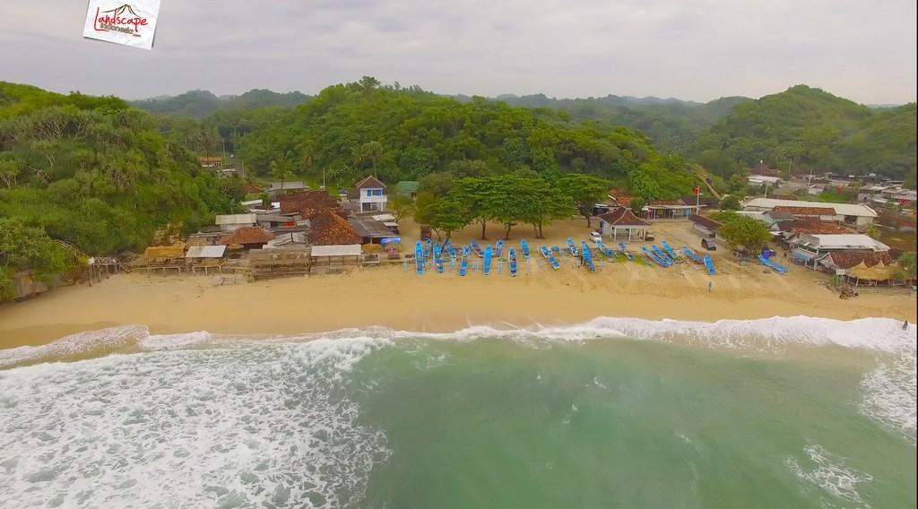 drini dari udara 6 - Pantai Drini dari Udara - Surut dan Pasang