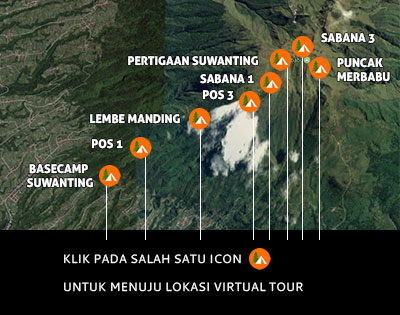 keterangan peta merbabu - Gunung Merbabu Virtual Tour