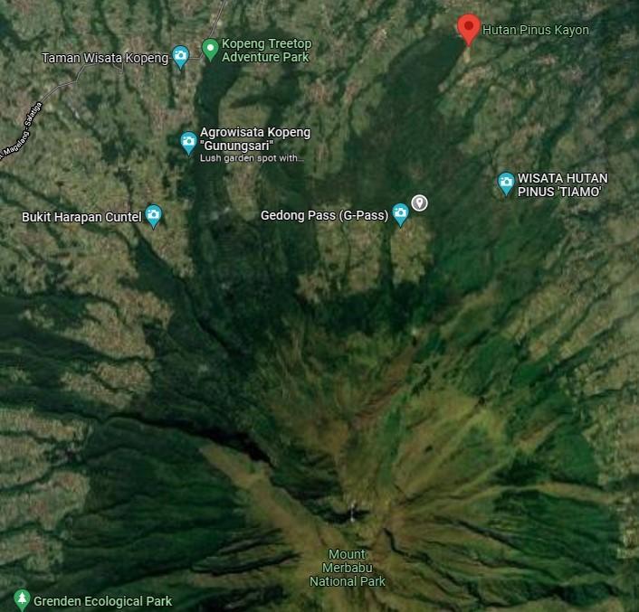 kayon google maps 5 - Hunting Milky Way Merbabu di Kayon