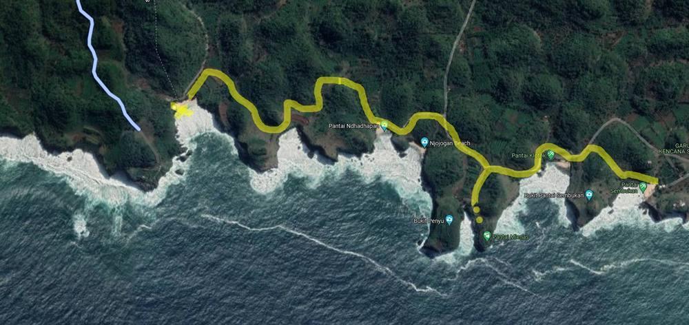 susur pantai maps 3 - Susur Pantai itu Ternyata Tidak Landai